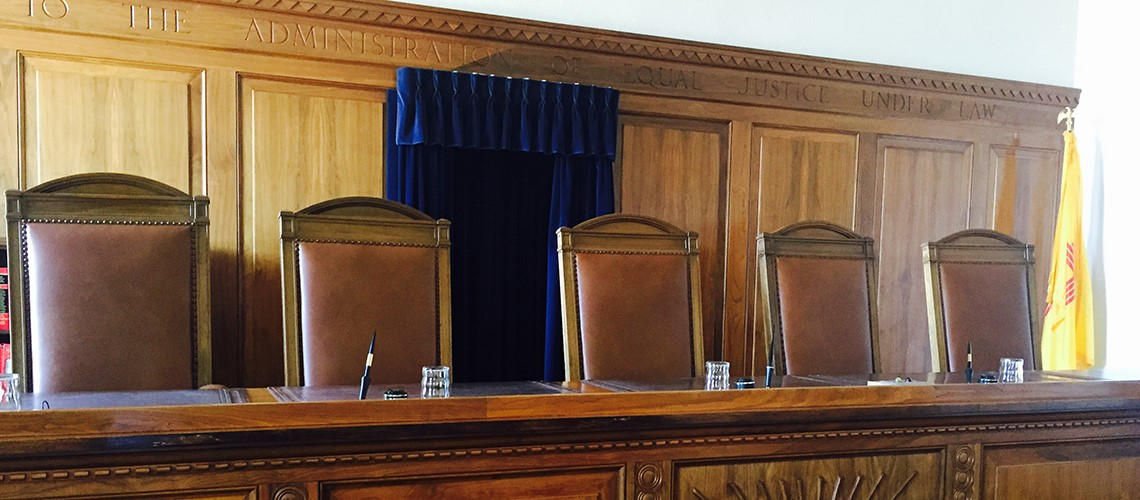 An image of the Supreme Court Courtroom